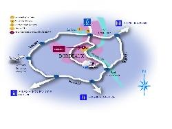 Mercure Château Chartrons plan de situation